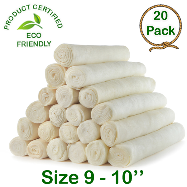 15 Pack Retriever Roll 9-10 inches Extra Thick Dog Treat Chew Large and Medium Dogs